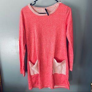 Bellamie pink tunic sweatshirt